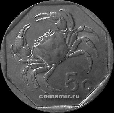 5 центов 1991 Мальта.