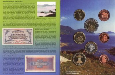 Набор евро монет 2004 Фарерские острова. Проба.