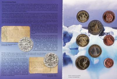 Набор евро монет 2004 Исландия. Проба.