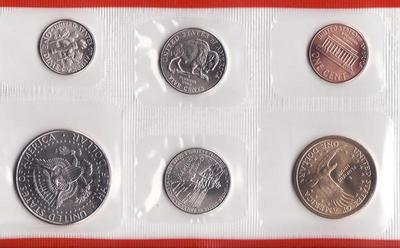 Набор из 6 монет 2005 D США.