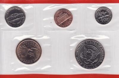 Набор из 5 монет 2000 D США.