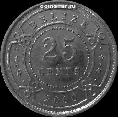 25 центов 2000 Белиз.