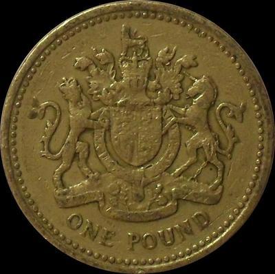 1 фунт 1983 Великобритания.