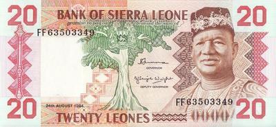 20 леоне 1984 Сьерра-Леоне.