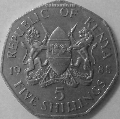 5 шиллингов 1985 Кения.