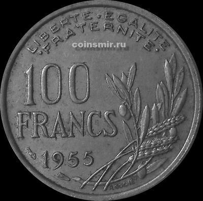 100 франков 1955 Франция.