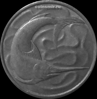 20 центов 1980 Сингапур. Рыба-меч.