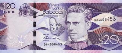 20 долларов 2013 Барбадос.