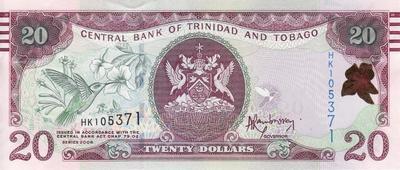 20 долларов 2006 Тринидад и Тобаго.