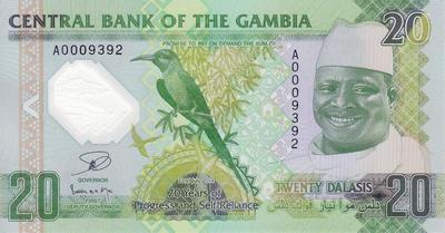 20 даласи 2014 Гамбия. 20-летие прогресса и самостоятельности.