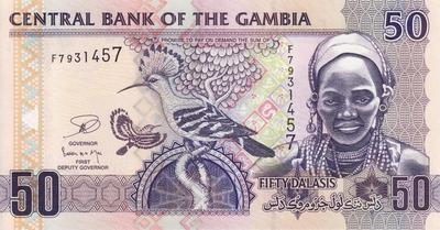 50 даласи 2013 Гамбия.