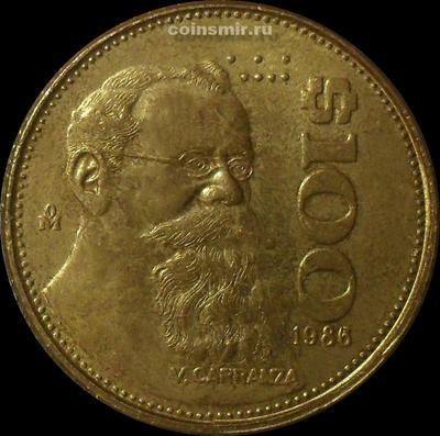 100 песо 1986 Мексика.