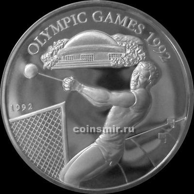 10 тал 1992 Самоа.  Олимпиада в Барселоне 1992. Метание молота.