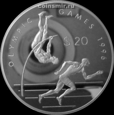 20 долларов 1993 острова Кука. Олимпиада в Атланте 1996. Лёгкая атлетика.