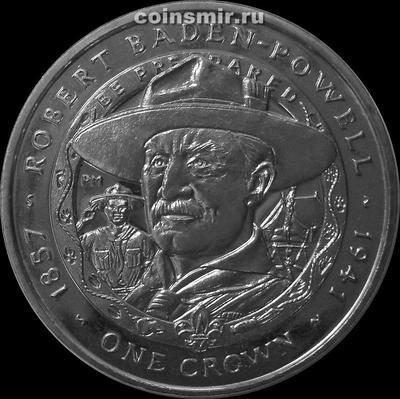 1 крона 2007 Фолклендские острова. Роберт Баден - Пауэлл.