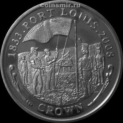 1 крона 2008 Фолклендские острова. Порт Луи.