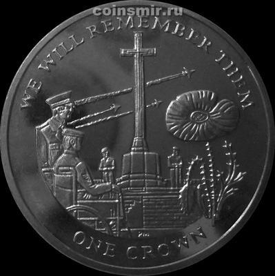 1 крона 2014 Фолклендские острова. Первая Мировая война.