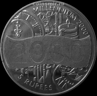 5 рупий 2000 Сейшельские острова. Миллениум.