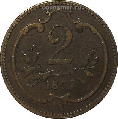 2 геллера 1897 Австрия.