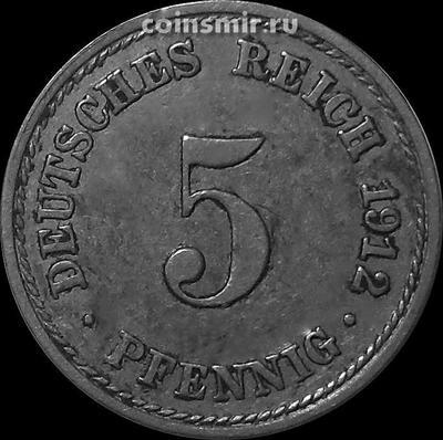 5 пфеннигов 1912 А Германия.