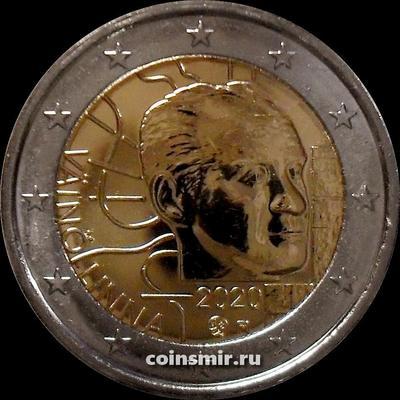 2 евро 2020 Финляндия. 100 лет со дня рождения Вяйнё Линна.