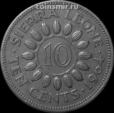 10 центов 1964 Сьерра-Леоне.