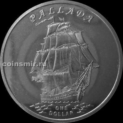 1 доллар 2014 острова Гилберта. Паллада.