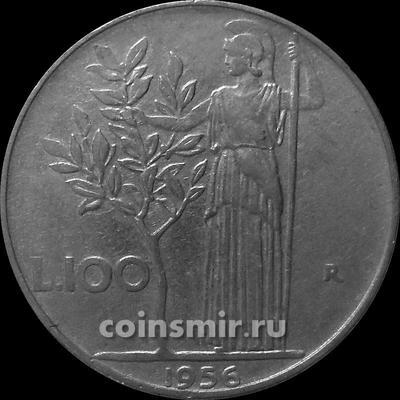 100 лир 1956 Италия.