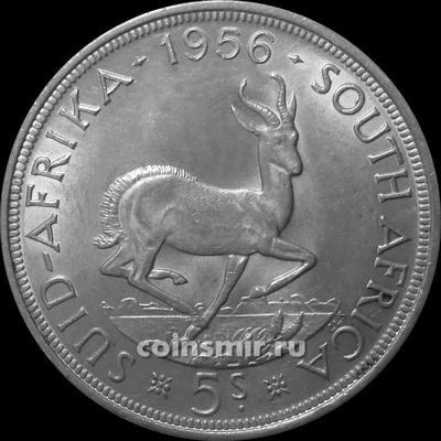 5 шиллингов 1956 Южная Африка ЮАР. Газель. (в наличии 1957 год) Елизавета II