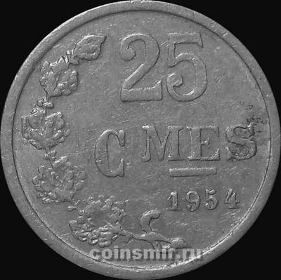 25 сантимов 1954 Люксембург.