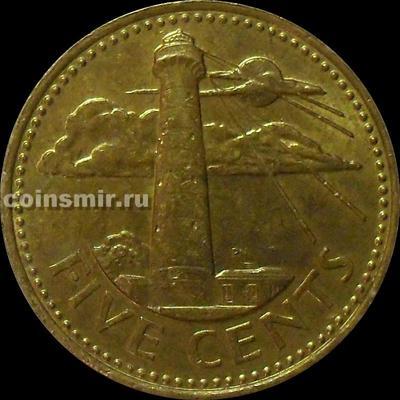 5 центов 1996 Барбадос. Маяк.