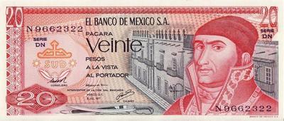 20 песо 1977 Мексика.
