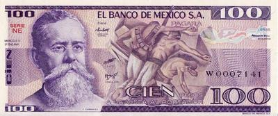 100 песо 1981 Мексика.