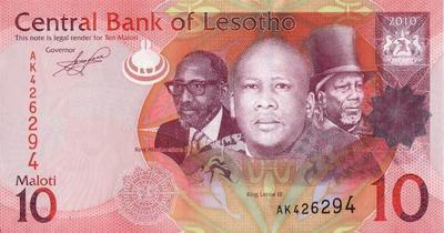10 малоти 2010 Лесото.