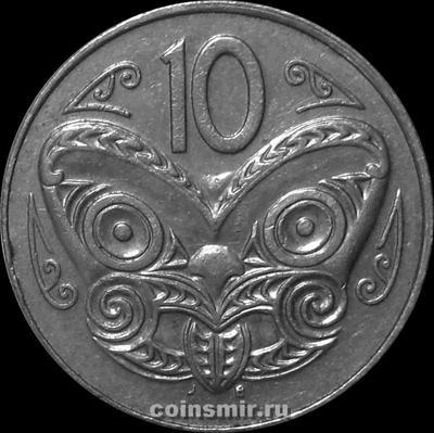 10 центов 1997 Новая Зеландия. Маска Маори.  (в наличии 1996 год)