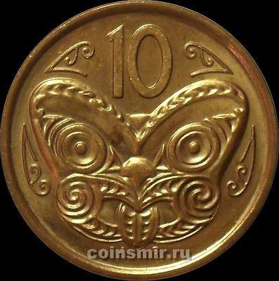 10 центов 2009 Новая Зеландия. Маска Маори.   (в наличии 2012 год)