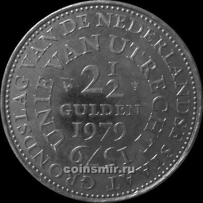 2 1/2 гульдена 1979 Нидерланды. 400-летие Утрехтской унии.