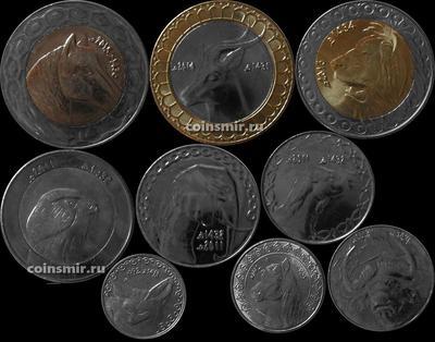 Набор из 9 монет 1992-2015 Алжир.