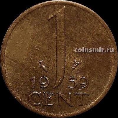 1 цент 1959 Нидерланды. Рыбка.