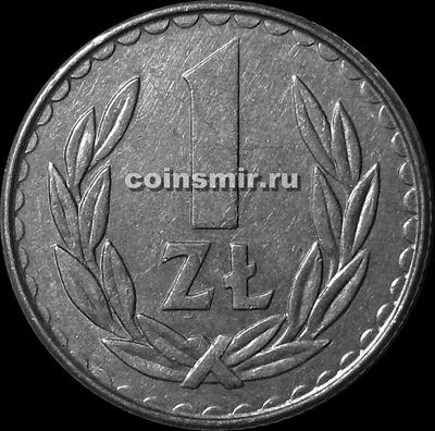 1 злотый 1987 Польша.
