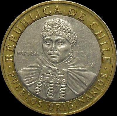 100 песо 2008 Чили.