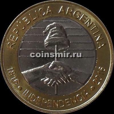2 песо 2016 Аргентина. 200 лет независимости.