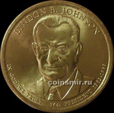 1 доллар 2015 Р США. 36-й президент Линдон Джонсон.