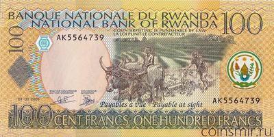 100 франков 2003 Руанда.