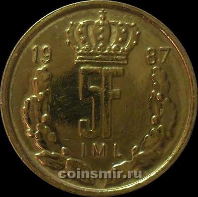 5 франков 1987 Люксембург.