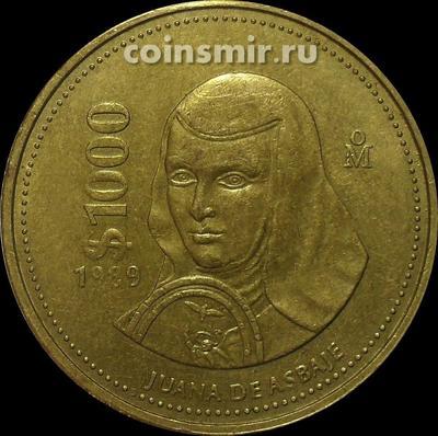 1000 песо 1989 Мексика. (в наличии 1988 год)
