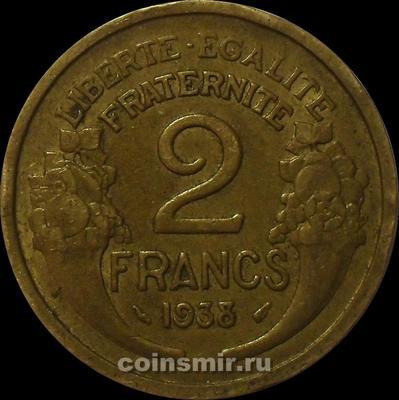 2 франка 1938 Франция.