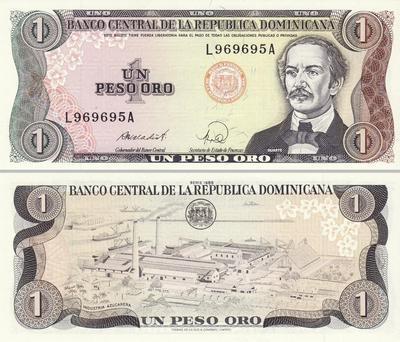 1 песо 1984-88 Доминиканская республика.