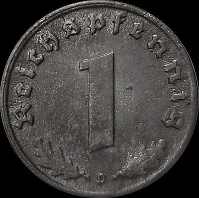 1 пфенниг 1942 D Германия. Третий рейх.