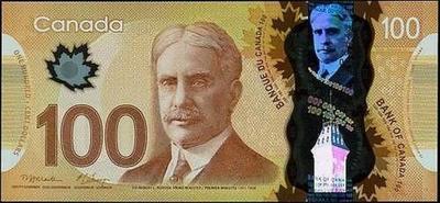100 долларов 2011 Канада.